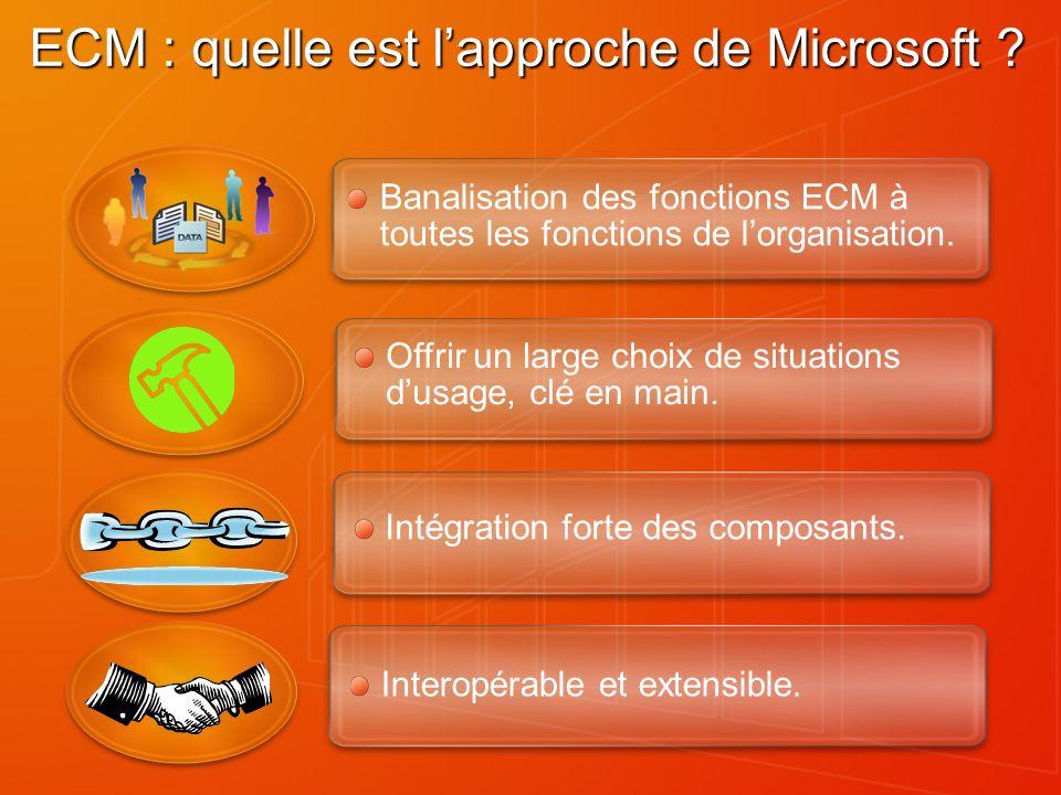 ECM : quelle est l'approche de Microsoft