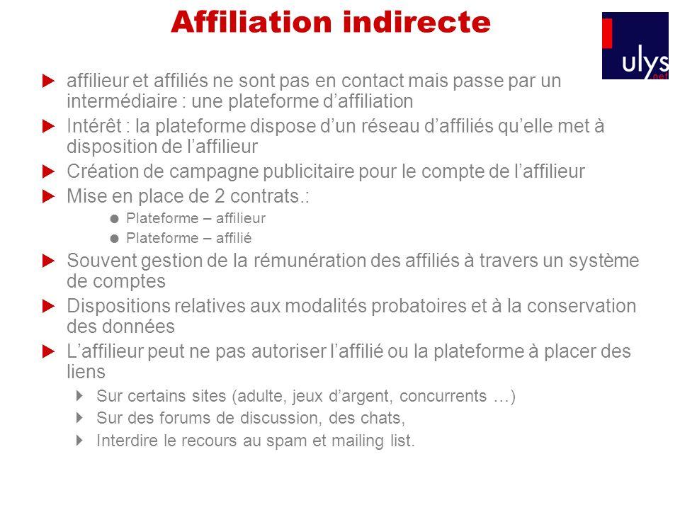 Affiliation indirecte