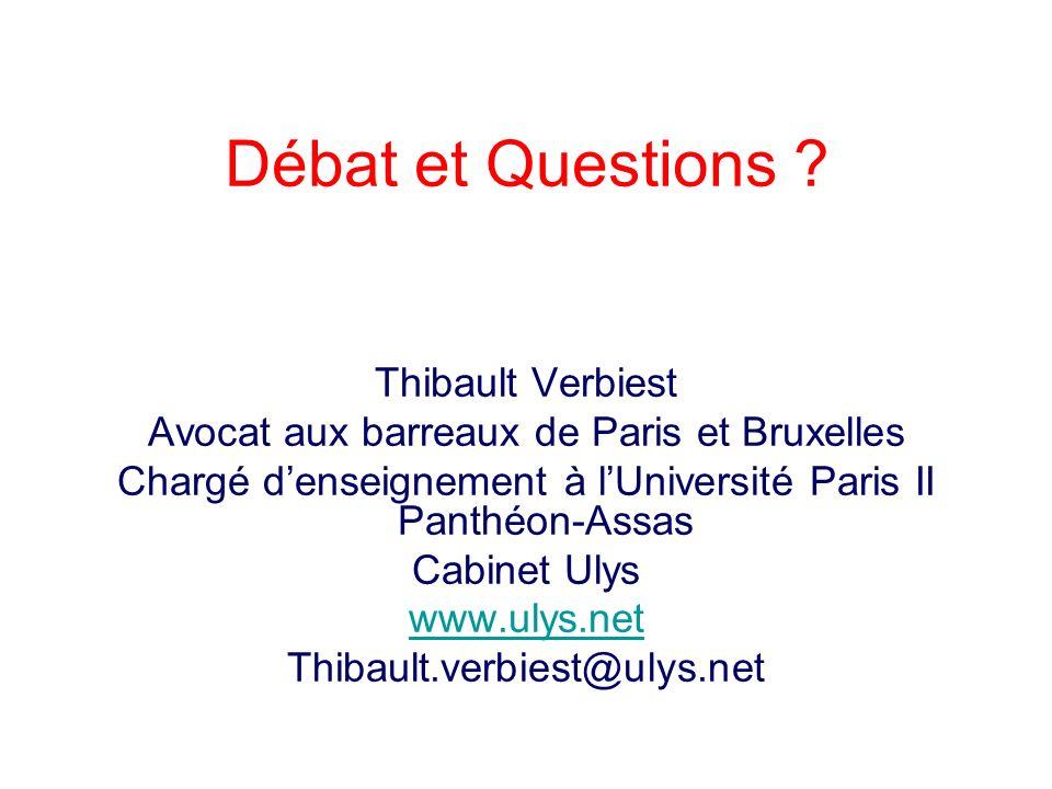 Débat et Questions Thibault Verbiest