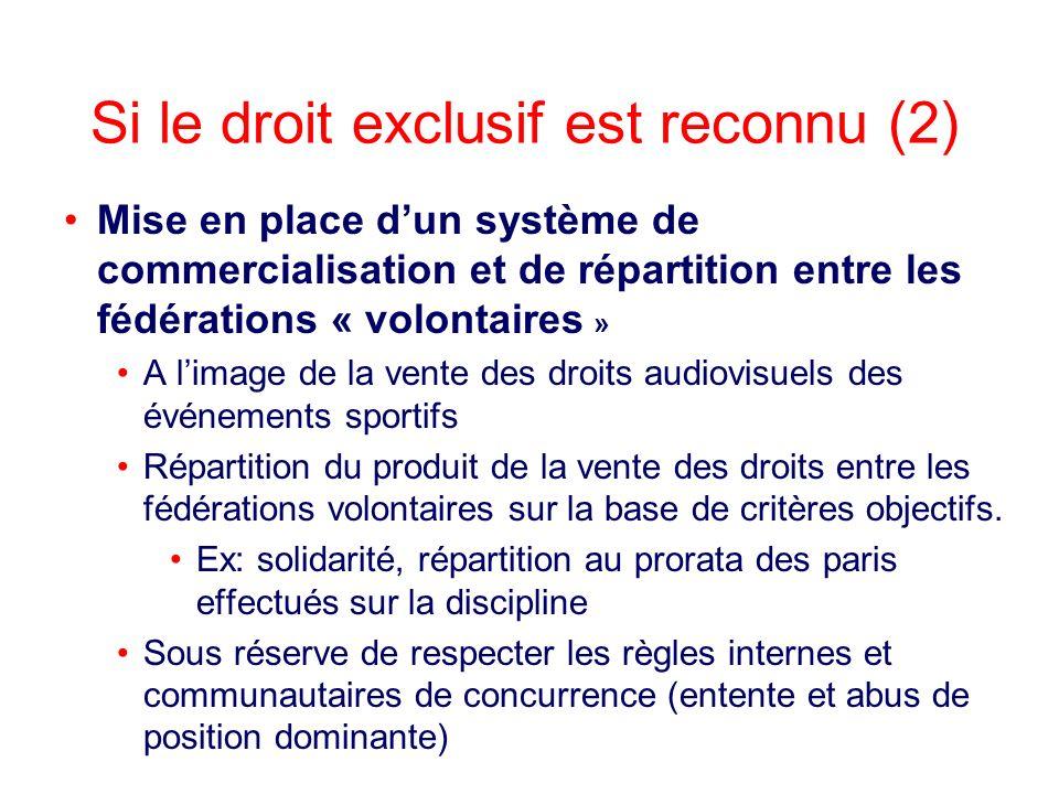 Si le droit exclusif est reconnu (2)