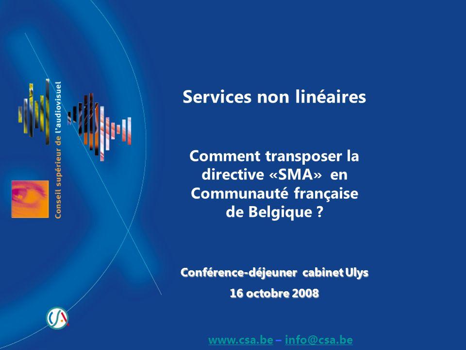 Services non linéaires