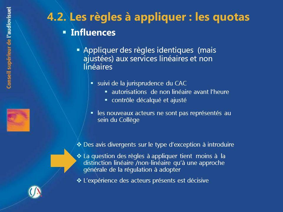 4.2. Les règles à appliquer : les quotas