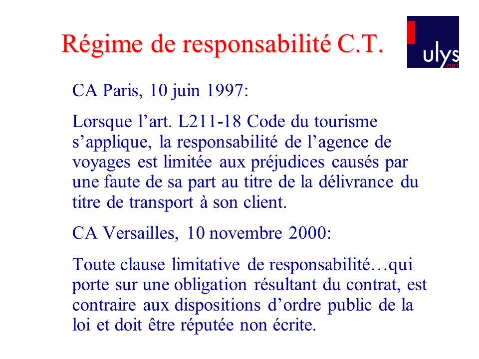 Régime de responsabilité C.T.