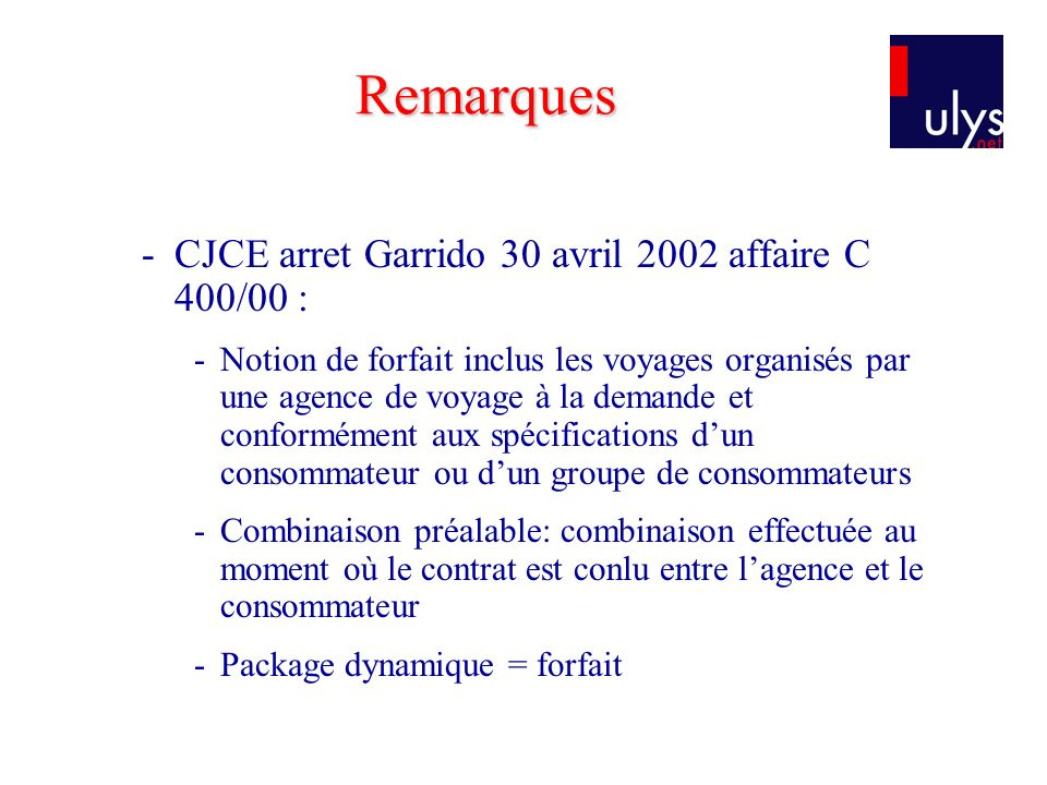 Remarques CJCE arret Garrido 30 avril 2002 affaire C 400/00 :