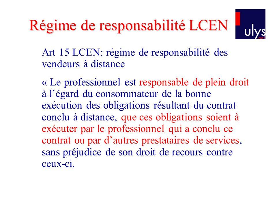 Régime de responsabilité LCEN