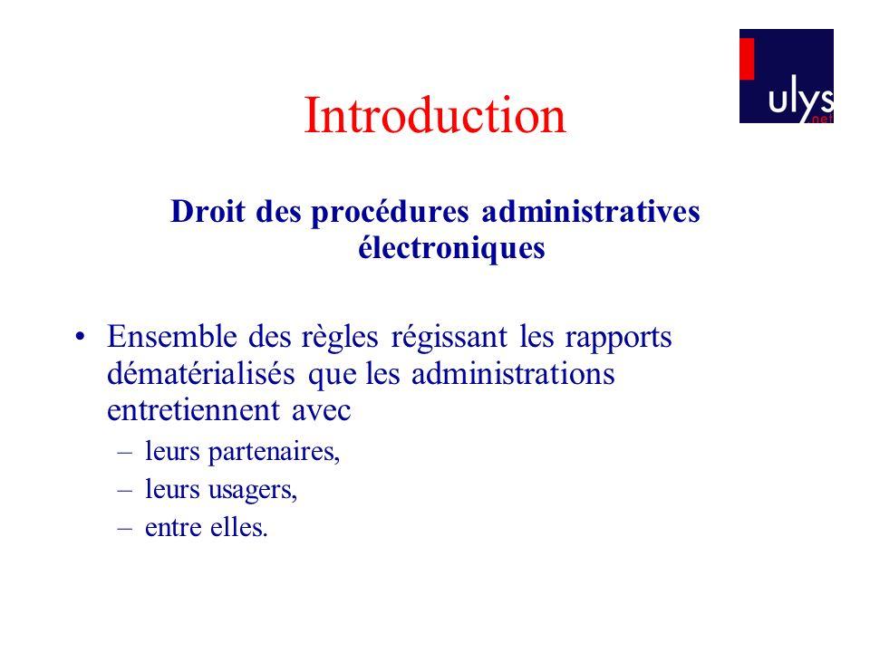 Droit des procédures administratives électroniques
