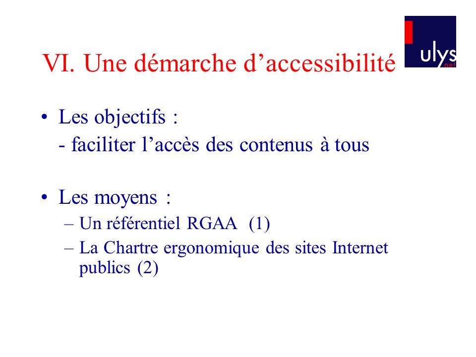 VI. Une démarche d'accessibilité