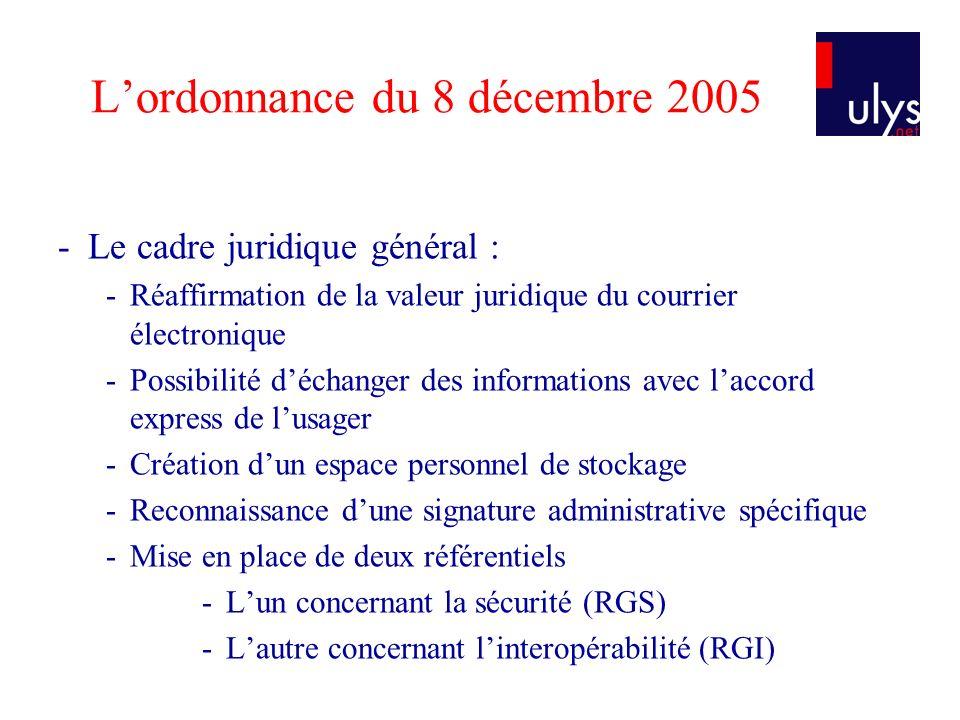L'ordonnance du 8 décembre 2005