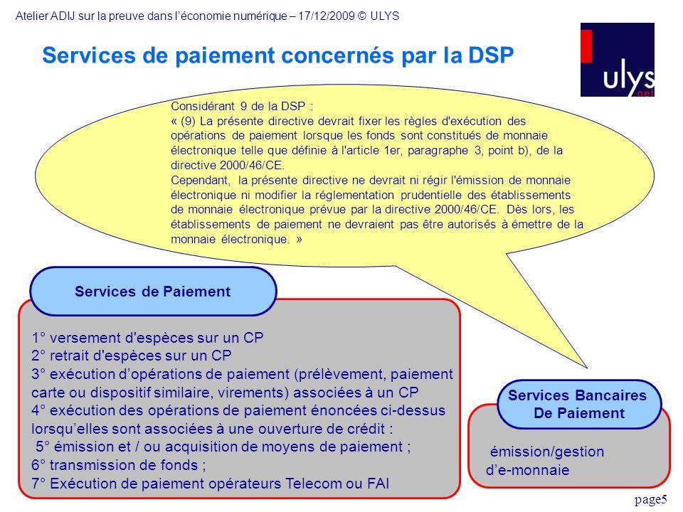 Services de paiement concernés par la DSP
