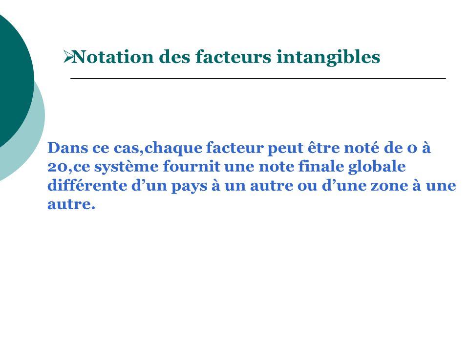 Notation des facteurs intangibles