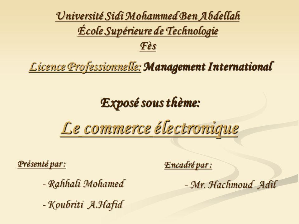 Licence Professionnelle: Management International Exposé sous thème: