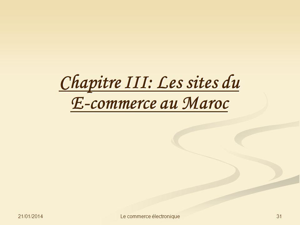 Chapitre III: Les sites du