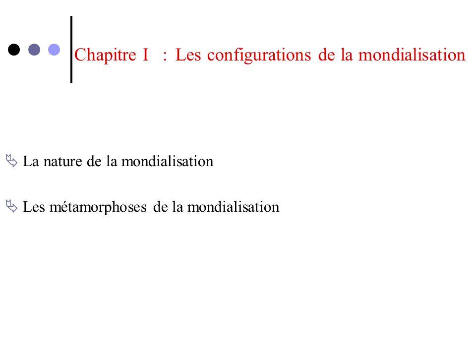 Chapitre I : Les configurations de la mondialisation