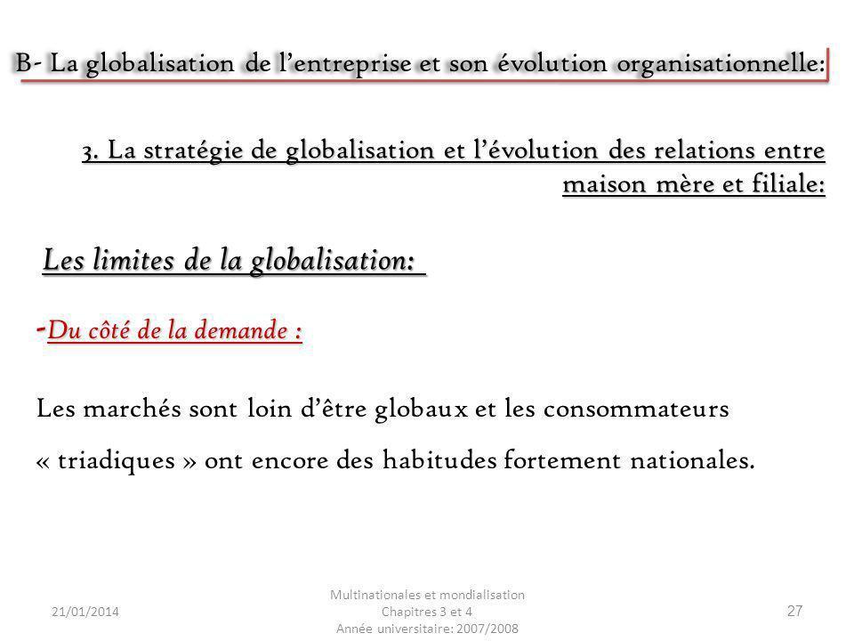 Les limites de la globalisation: