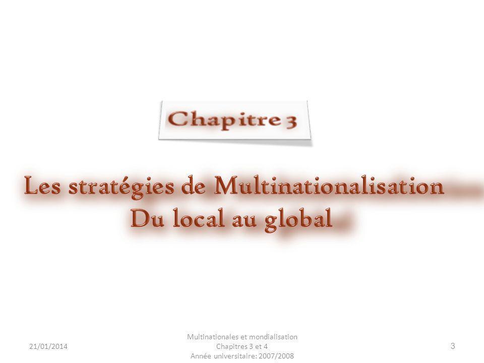 Les stratégies de Multinationalisation