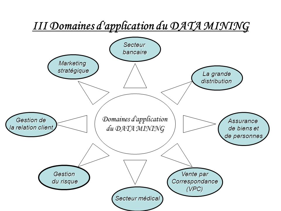 III Domaines d application du DATA MINING