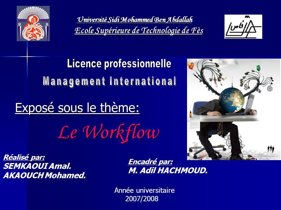 Exposé sous le thème: Le Workflow