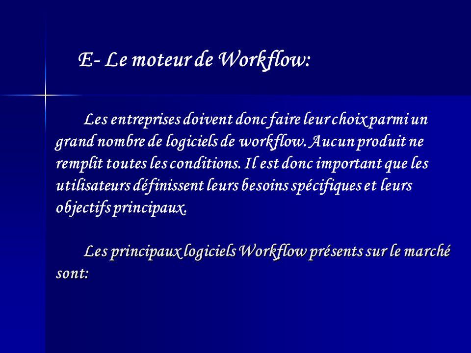 E- Le moteur de Workflow: