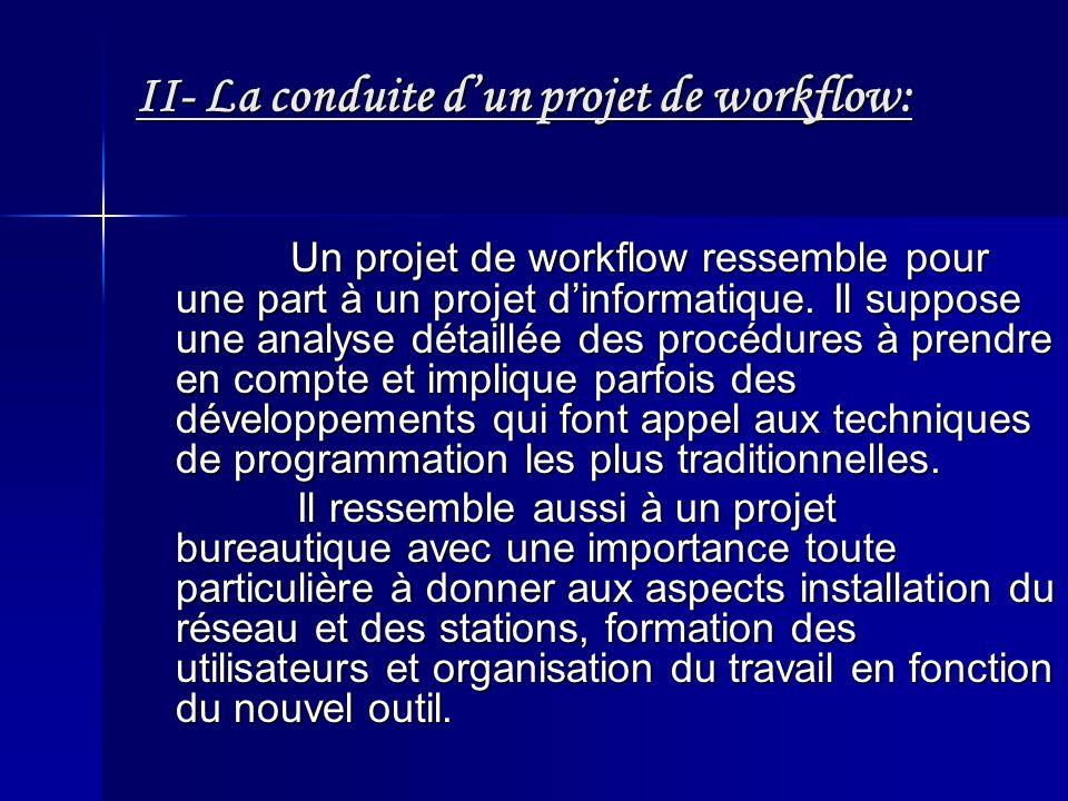 II- La conduite d'un projet de workflow: