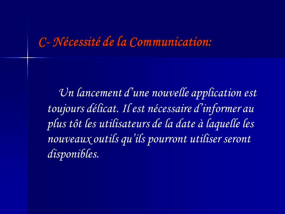 C- Nécessité de la Communication: