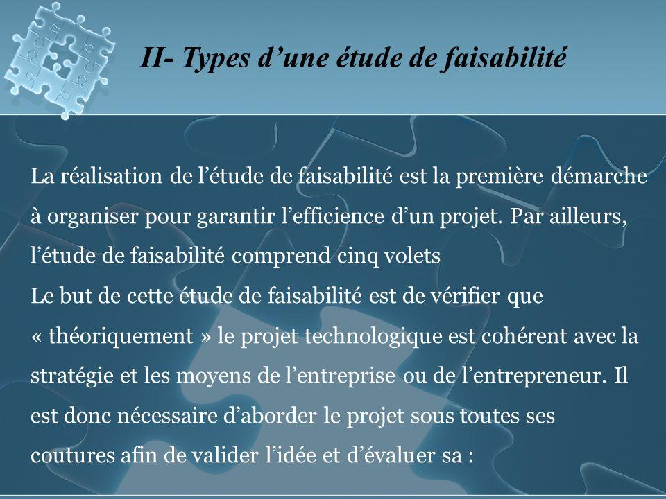II- Types d'une étude de faisabilité