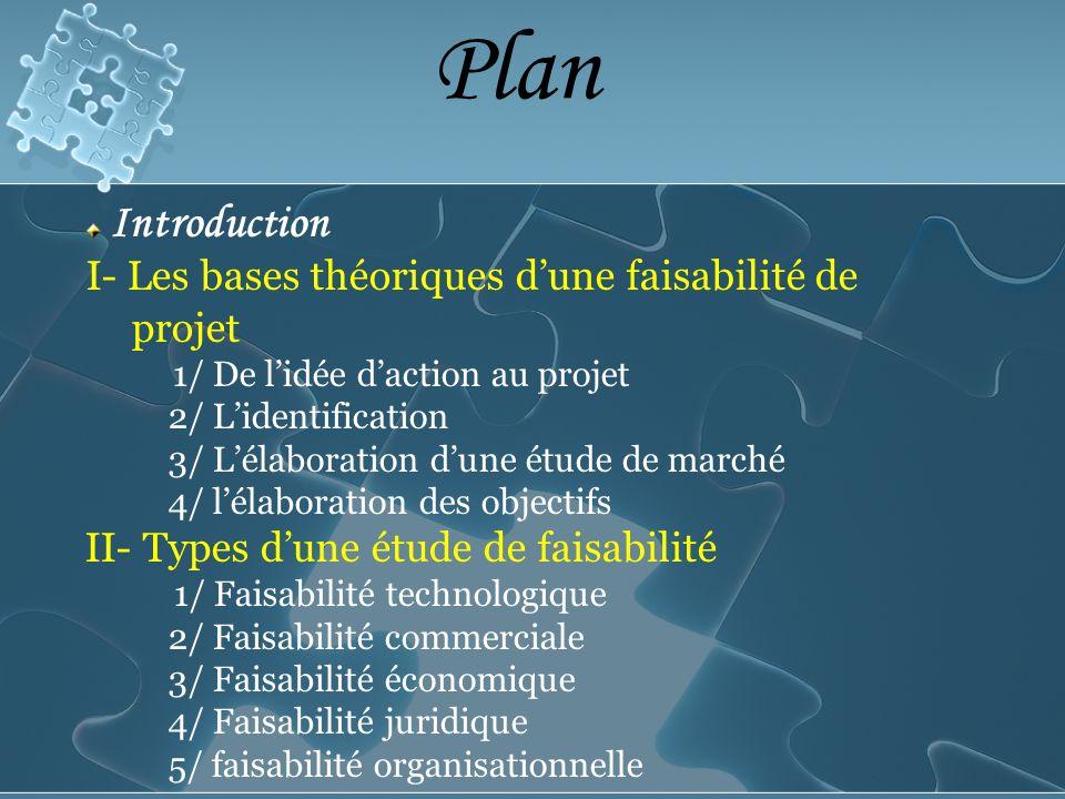 Plan I- Les bases théoriques d'une faisabilité de projet