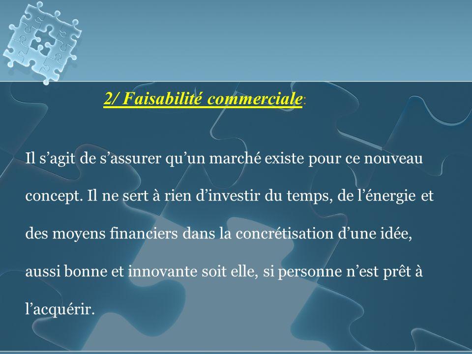 2/ Faisabilité commerciale: