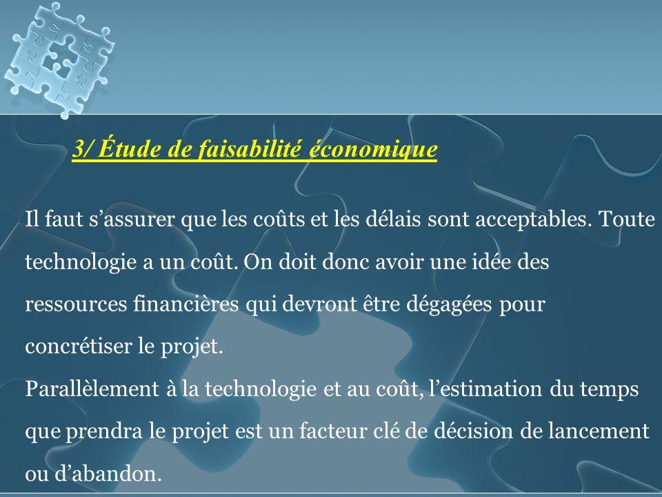 3/ Étude de faisabilité économique