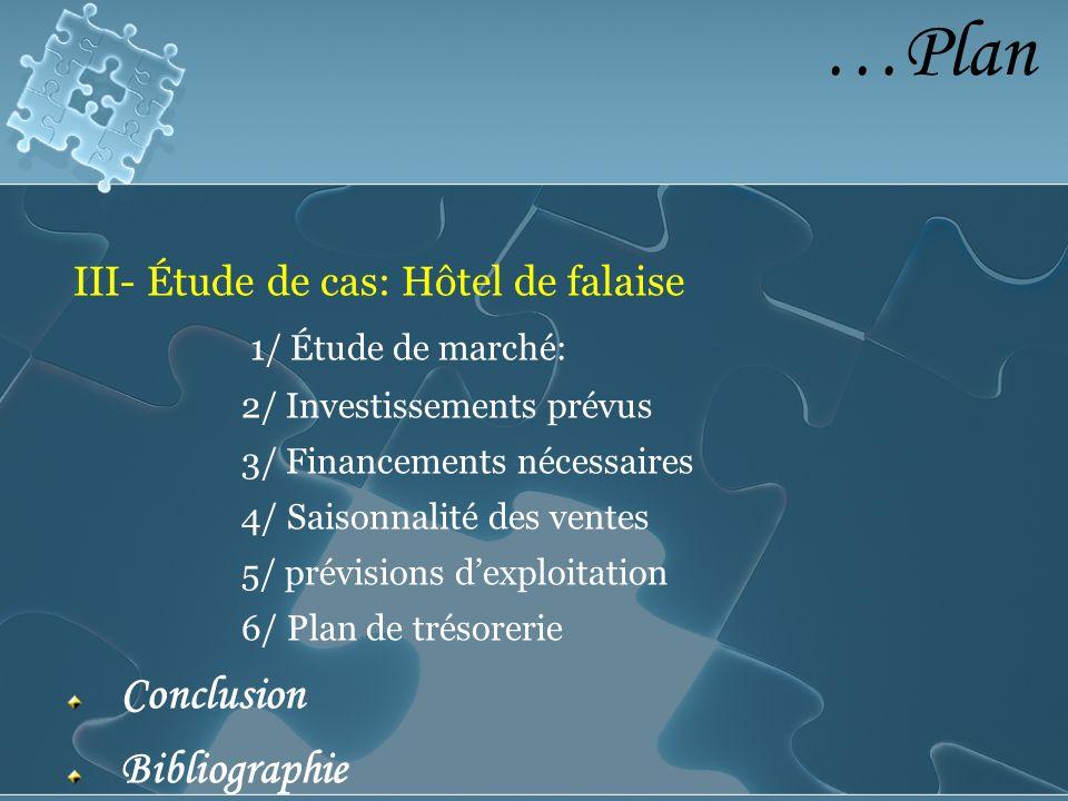 …Plan 1/ Étude de marché: III- Étude de cas: Hôtel de falaise