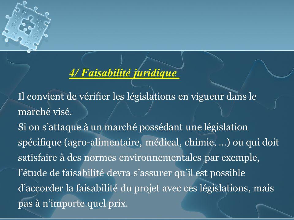 4/ Faisabilité juridique