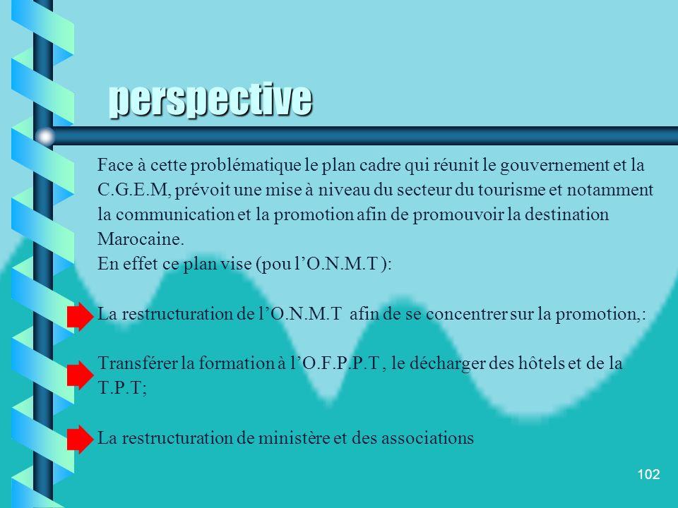 perspective Face à cette problématique le plan cadre qui réunit le gouvernement et la.