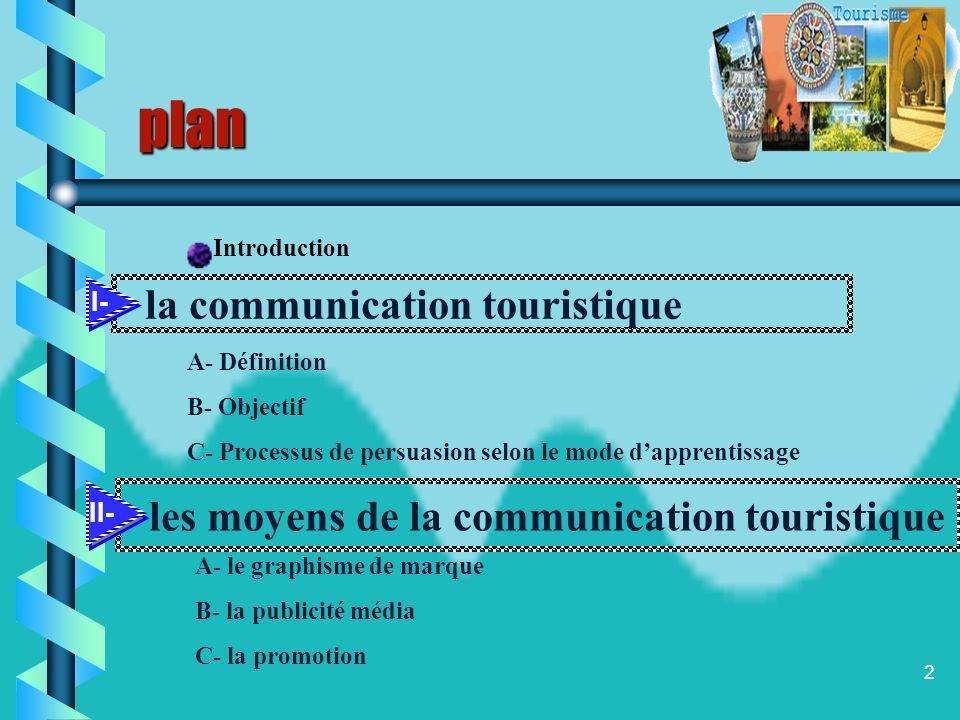 plan la communication touristique