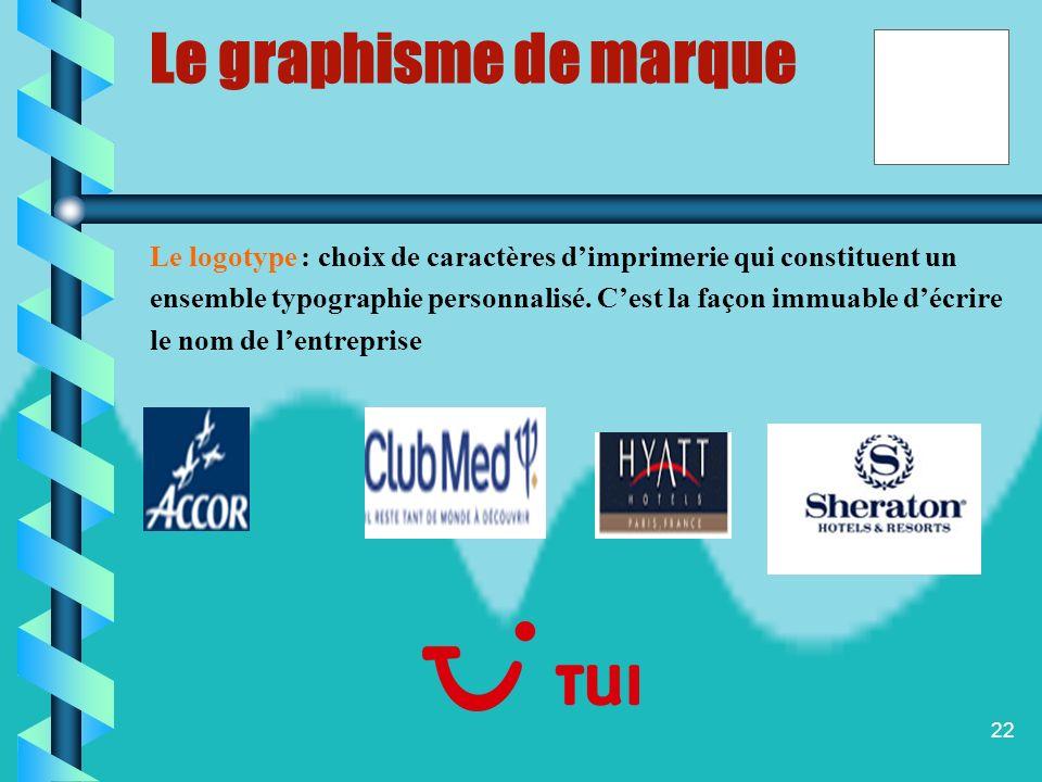 Le graphisme de marque Le logotype : choix de caractères d'imprimerie qui constituent un.