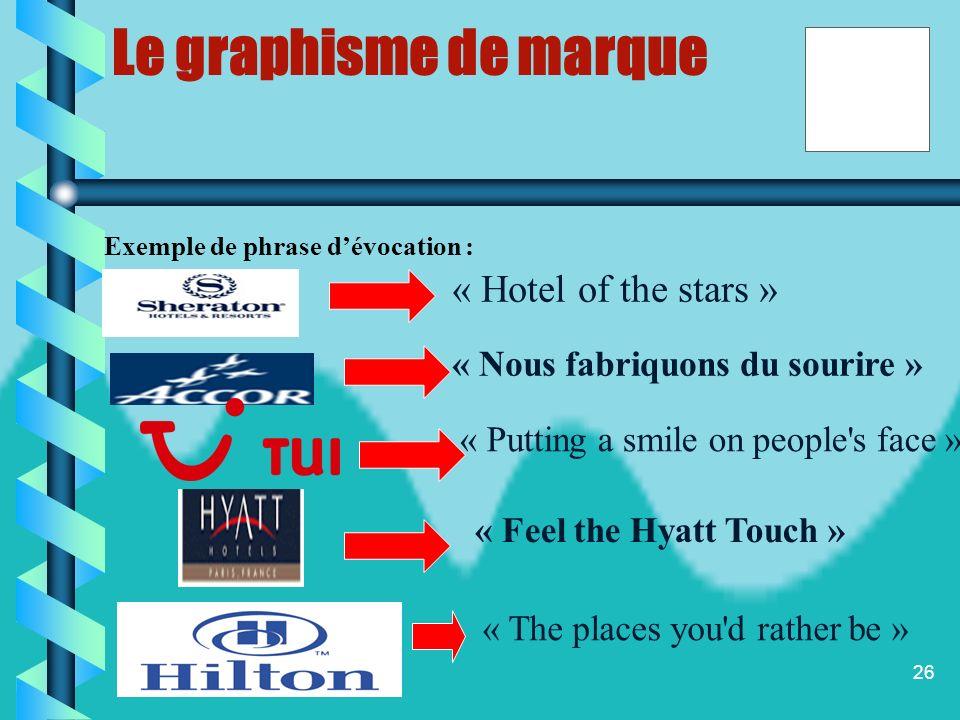 Le graphisme de marque « Hotel of the stars »