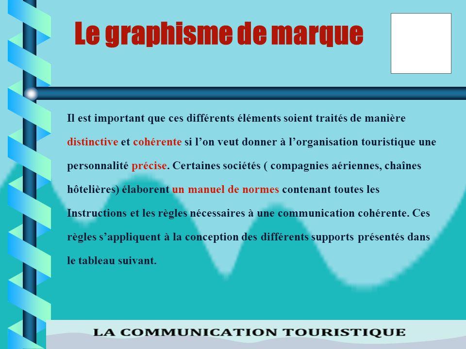 Le graphisme de marque Il est important que ces différents éléments soient traités de manière.