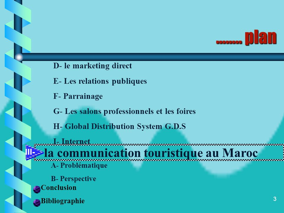 …….. plan D- le marketing direct E- Les relations publiques