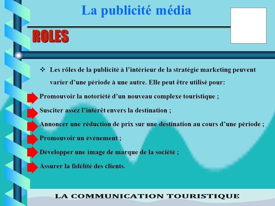 ROLES La publicité média