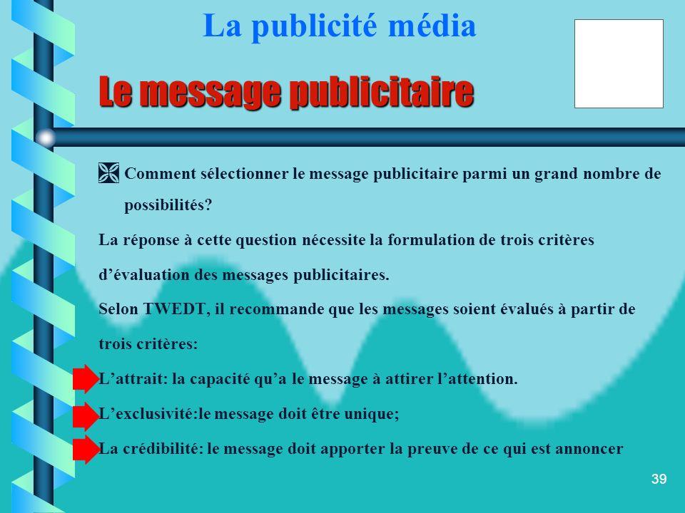 Le message publicitaire