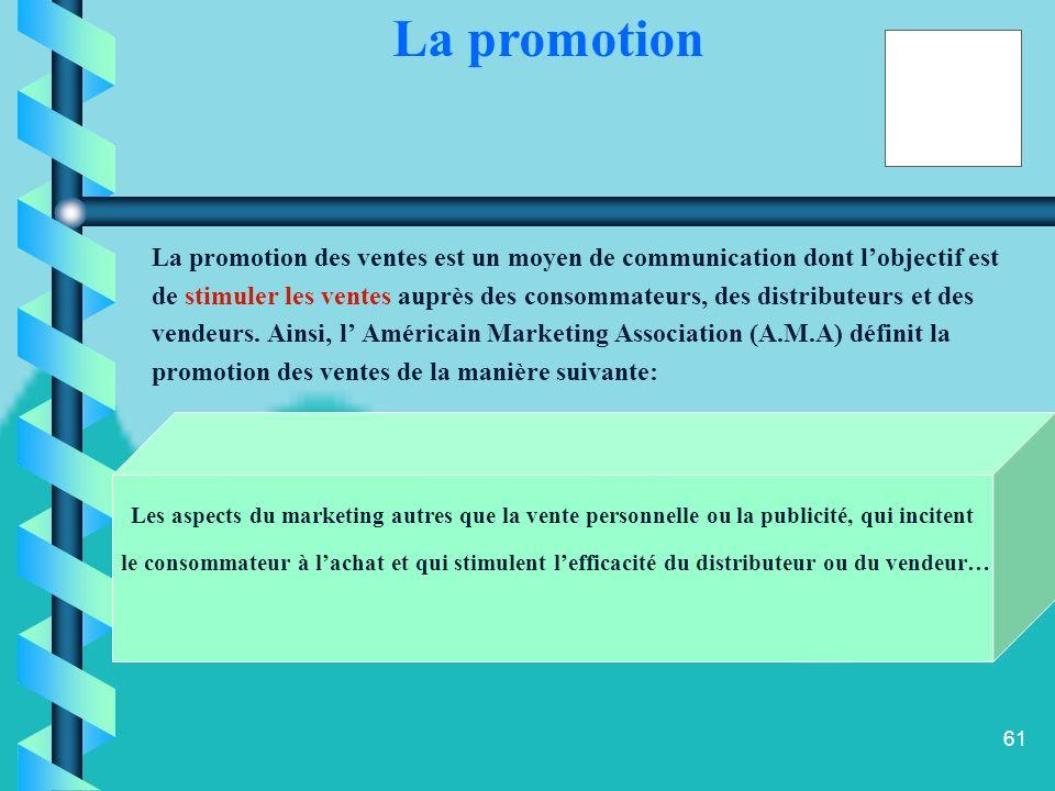 La promotion La promotion des ventes est un moyen de communication dont l'objectif est.