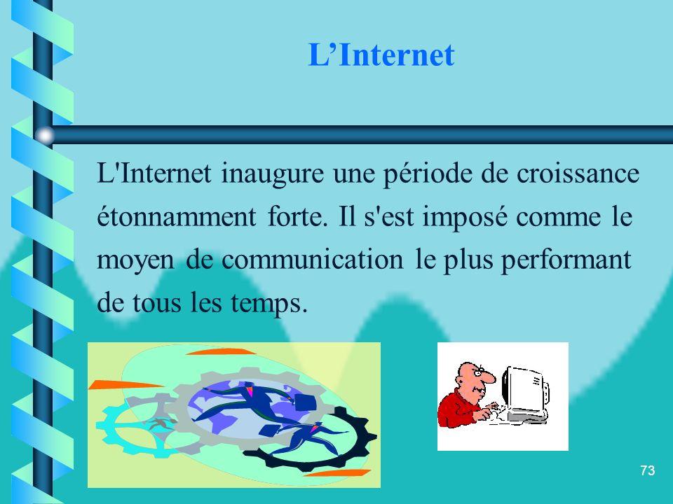 L'Internet L Internet inaugure une période de croissance