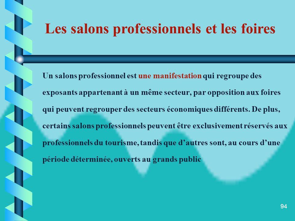 Les salons professionnels et les foires