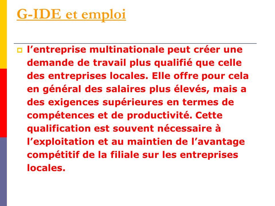 G-IDE et emploi