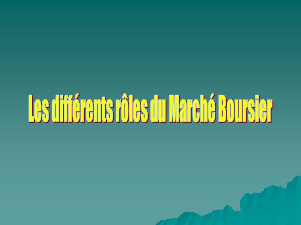 Les différents rôles du Marché Boursier