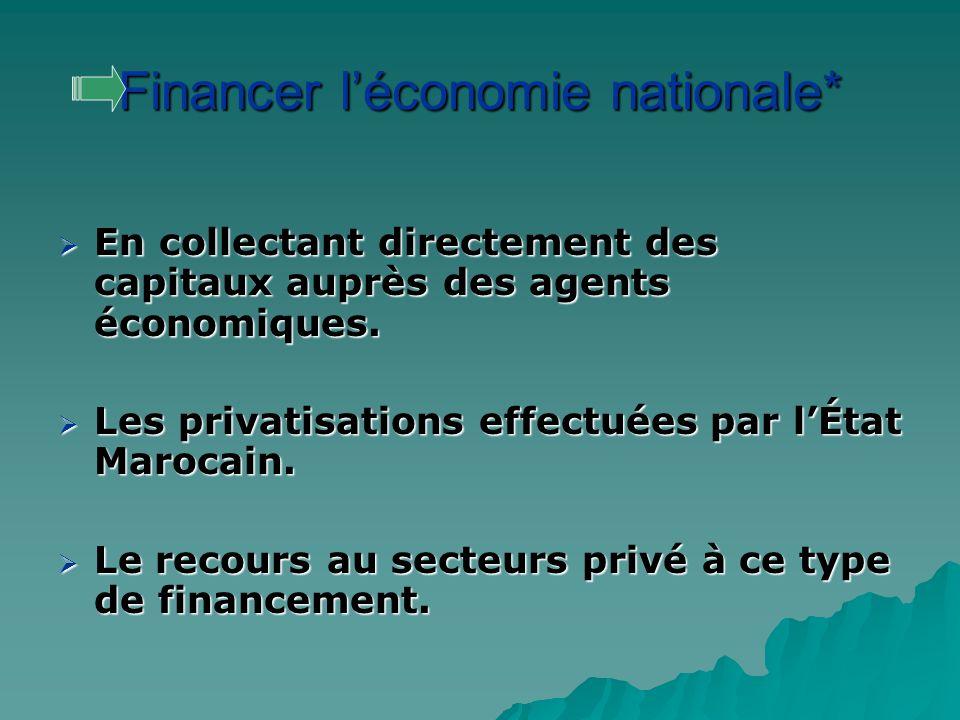 Financer l'économie nationale*