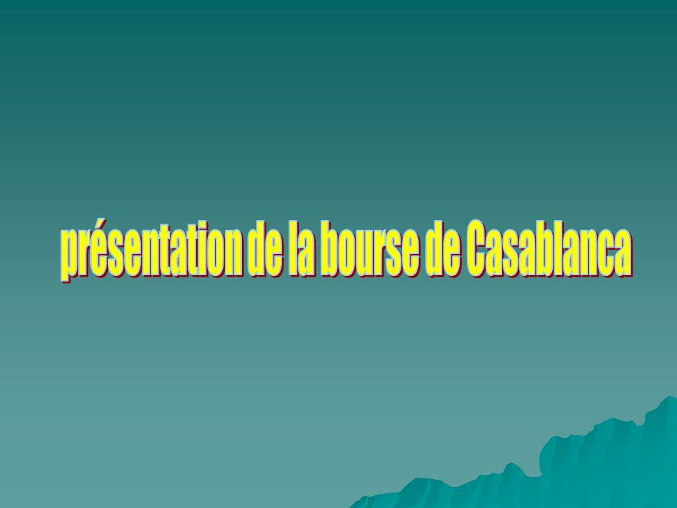 présentation de la bourse de Casablanca
