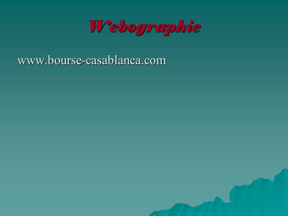 Webographie www.bourse-casablanca.com