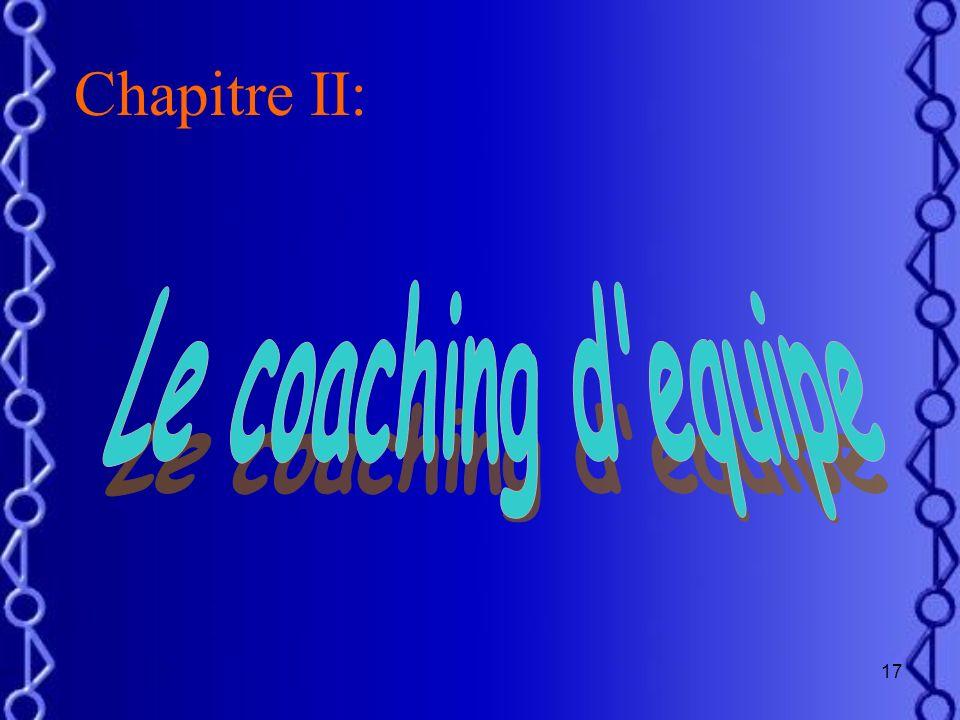 Chapitre II: Le coaching d equipe