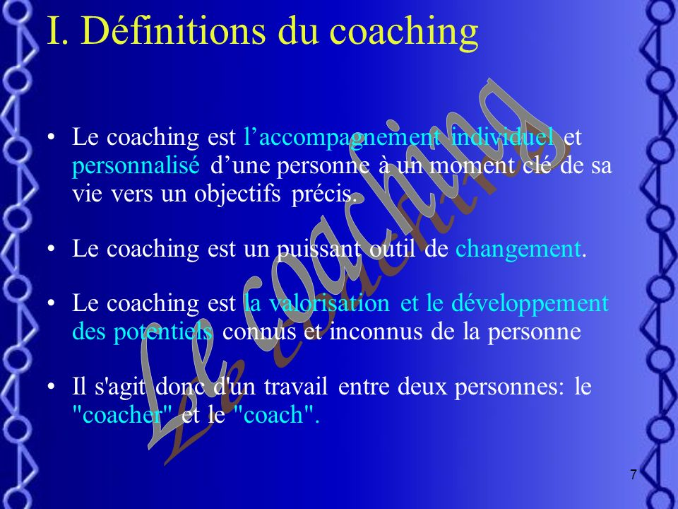 Définitions du coaching