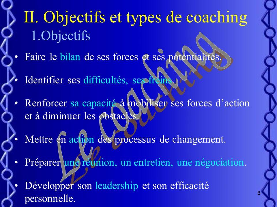 II. Objectifs et types de coaching