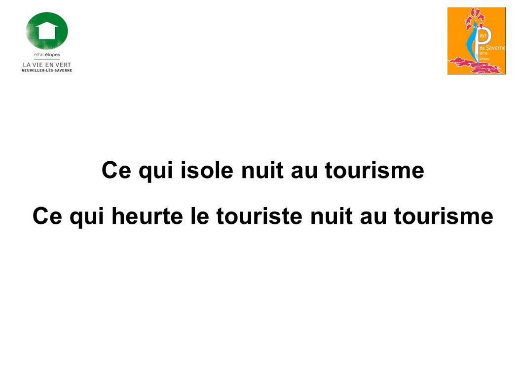Ce qui isole nuit au tourisme